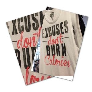 "SO Tops - So Graphic Tank Top ""Excuses Don't Burn Calories"""